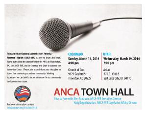 ANCA WR Colorado and Utah Town Halls