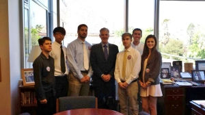 San Marino Students with Superintedent Torlakson
