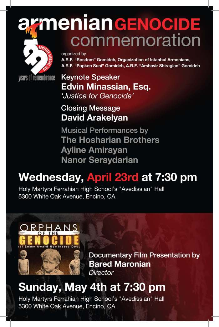 San Fernando Valley Armenian Genocide Commemoration