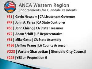 ANCA WR Endorsements for Glendale Residents