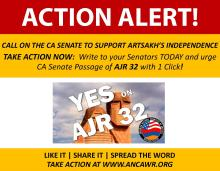 Call on the CA Senate to Support Artsakh's Independence