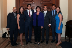 ANCA WR Outside of CA Senate Chambers with Senator de Leon After Passage of Artsakh Resolution