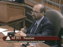 ANCA WR's  Haig Baghdassarian testifies in support of AB 1915